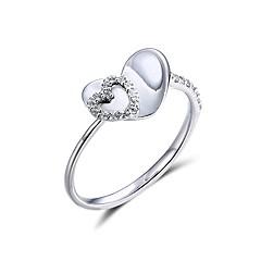 Жен. Обручальное кольцо Цирконий Любовь Сердце Стерлинговое серебро Циркон В форме сердца Бижутерия Назначение Обручение Свидание