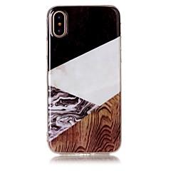 для крышки случая imd картины задней крышки случая древесины зерна мрамора мягкой tpu для яблока iphone x iphone 8 плюс iphone 8 iphone 7
