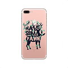 Недорогие Кейсы для iPhone X-Кейс для Назначение Apple iPhone X iPhone 8 iPhone 8 Plus Прозрачный С узором Задняя крышка Слова / выражения Рождество Мягкий TPU для
