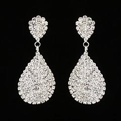 preiswerte Ohrringe-Damen Kubikzirkonia Tropfen-Ohrringe - Strass Tropfen Silber Für Hochzeit Party