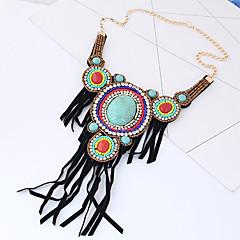 Mujer Collar Collares Declaración Cristal Forma Geométrica Tejido Legierung Moda estilo de Bohemia Joyas Para Fiesta