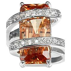 Χαμηλού Κόστους Αντρικά Κοσμήματα-Ανδρικά Γυναικεία Δαχτυλίδι για τη μέση των δαχτύλων Δαχτυλίδι αρραβώνων Cubic Zirconia Ζιρκονίτης Χαλκός Geometric Shape Κοσμήματα Γάμου