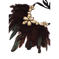preiswerte Halsketten-Damen Anhängerketten - Feder Erklärung, überdimensional Braun, Rose Rot, Rot Modische Halsketten Schmuck Für Party, Bühne