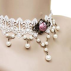 Biżuteria Lolita Klasyczna i Tradycyjna Naszyjnik Księżniczka White Lolita akcesoria Naszyjnik Koronkowe Dla Koronka