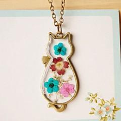 Жен. Ожерелья с подвесками Кот Медь Животный дизайн Симпатичные Стиль Бижутерия Назначение Повседневные На выход