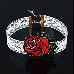 Жен. Ожерелья-бархатки В форме цветка Роуз Фланелет Простой стиль Цветочный принт Бижутерия Назначение Повседневные