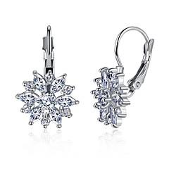 preiswerte Ohrringe-Damen Synthetischer Diamant Geometrisch Tropfen-Ohrringe - Strass Personalisiert Gold / Weiß Für Alltag Bühne
