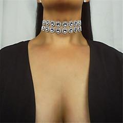 Női Rövid nyakláncok Strassz Egyszálas Akril Duplarétegű Divat Euramerican Ezüst Ékszerek Mert Napi Hétköznapi 1db