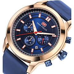 preiswerte Tolle Angebote auf Uhren-Herrn Sportuhr Armbanduhr Japanisch Quartz 30 m Kalender Stopuhr Nachts leuchtend Echtes Leder Band Analog Luxus Freizeit Modisch Schwarz / Blau - Weiß Schwarz Blau