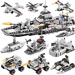 cheap Stacking Blocks-BEIQI Building Blocks 472pcs Classic New Design Warship Plane / Aircraft Destroyer 6 in 1 DIY Chic & Modern High Quality Military Boat