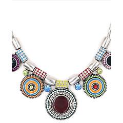 Жен. Ожерелья с подвесками Синтетический алмаз Круглый Серебрянное покрытие Сплав Регулируется По заказу покупателя Бижутерия Назначение