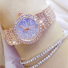 tanie Zegarki damskie-Damskie Kwarcowy Zegarek Pave Japoński Na codzień Stal nierdzewna Pasmo Urok Unikalny twórczy zegarek Modny Srebro Złoty Różowe złoto