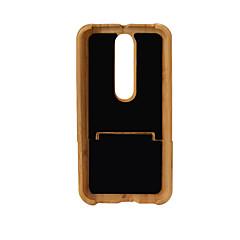 Etui Käyttötarkoitus X Style Iskunkestävä Takakuori Yhtenäinen väri Kova Bambu varten MOTO G4