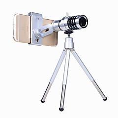 אוסה ® טלפון מצלמה עדשה קיט 12x זום אופטי אוניברסלי הטלפון החכם הטלסקופ טלסקופ העדשה עם רצועה חצובה