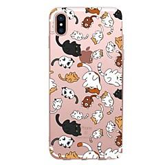 для крышки случая прозрачный тип задняя крышка случая кошка мягкая tpu для яблока iphone x iphone 8 плюс iphone 8 iphone 7 плюс iphone 7