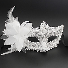 Deluxe Blossom PVC Venetian Half Face Mask Halloween Props Cosplay Accessories