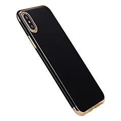 Недорогие Кейсы для iPhone 7 Plus-Кейс для Назначение Apple iPhone X iPhone 8 Покрытие Кейс на заднюю панель Сплошной цвет Мягкий ТПУ для iPhone X iPhone 8 Pluss iPhone 8
