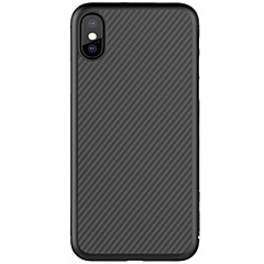 billige iPhone-etuier-Etui Til Apple iPhone X iPhone 8 iPhone 8 Plus Ultratyndt Mønster Bagcover Linjeret / bølget Hårdt Kulfiber for iPhone X iPhone 8 Plus