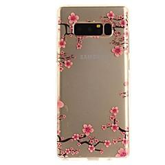 olcso Galaxy Note 3 tokok-Case Kompatibilitás Note 8 Ultra-vékeny Átlátszó Minta Hátlap Virág Puha TPU mert Note 8 Note 5 Edge Note 5 Note 4 Note 3 Lite Note 3