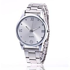 preiswerte Damenuhren-Herrn / Damen Armbanduhr Chinesisch Armbanduhren für den Alltag Metall Band Charme / Kleideruhr Silber / Gold / Rotgold