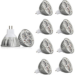 billiga LED-glödlampor-10pcs 3W 250lm MR16 LED-spotlights MR16 3 LED-pärlor Högeffekts-LED Dekorativ Varmvit Kallvit 12V