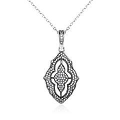 Жен. Ожерелья с подвесками Бриллиант В форме листа Стерлинговое серебро Винтаж Бижутерия Назначение Halloween