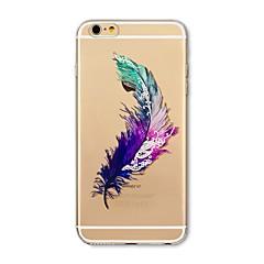halpa iPhone 6 Plus kotelot-Etui Käyttötarkoitus Apple iPhone X iPhone 8 Läpinäkyvä Kuvio Takakuori Sulat Pehmeä TPU varten iPhone X iPhone 8 Plus iPhone 8 iPhone 7