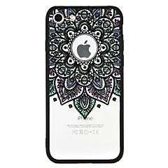 Недорогие Кейсы для iPhone 6 Plus-Кейс для Назначение Apple iPhone 7 Plus iPhone 7 Защита от удара С узором Кейс на заднюю панель Мандала Кружева Печать Твердый ПК для