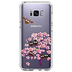 Etui Til Samsung Galaxy S8 Plus S8 Ultratyndt Transparent Mønster Bagcover Ugle Blomst Blødt TPU for S8 S8 Plus S7 edge S7 S6 edge plus