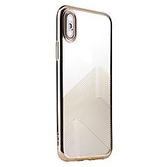 Кейс для Назначение Apple Покрытие Прозрачный С узором Задняя крышка Полосы / волосы Мягкий TPU для iPhone X iPhone 8 Plus iPhone 8