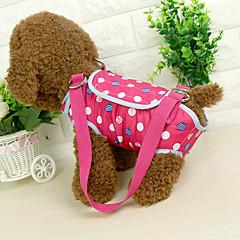 قط كلب حقيبة حبال حيوانات أليفة حاملات المحمول البولكا النقاط أزرق زهري