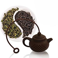ieftine -1 buc Silicon Strecurătoare Ceai cu Cupa Stand Calitate superioară . 1.0*1.0*1.0cm
