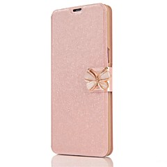 voordelige Galaxy S6 Hoesjes / covers-hoesje Voor Samsung Galaxy S8 Plus S8 Kaarthouder Volledig hoesje Effen Kleur Vlinder Hard PU-nahka voor S8 Plus S8 S7 edge S7 S6 edge S6