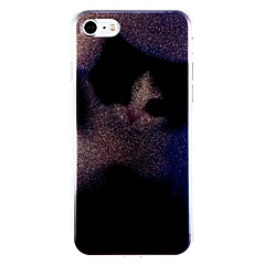 Кейс для Назначение Apple Защита от удара Задняя крышка Кот Сияние и блеск Твердый PC для iPhone 7 Plus iPhone 7 iPhone 6s Plus iPhone 6