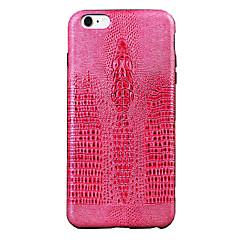 Кейс для Назначение Apple iPhone 6 Защита от удара Задняя крышка Животное Твердый Искусственная кожа для iPhone 6s Айфон 6