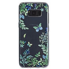 billige Galaxy S6 Etuier-Etui Til Samsung Galaxy S8 Plus S8 Transparent Præget Mønster Bagcover Sommerfugl Blødt TPU for S8 S8 Plus S7 edge S7 S6 S5