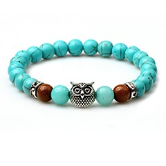 cheap Bracelets-Men's Turquoise Strand Bracelet - Turquoise Animal Bracelet Turquoise For Street / Going out