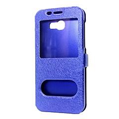 Χαμηλού Κόστους Άλλες θήκες / καλύμματα για Samsung-tok Για Samsung Galaxy J5 Prime Πορτοφόλι με βάση στήριξης με παράθυρο Ανοιγόμενη Πλήρης Θήκη Συμπαγές Χρώμα Σκληρή PU δέρμα για
