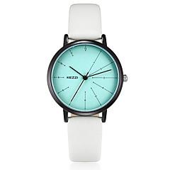 preiswerte Damenuhren-KEZZI Damen Modeuhr / Armbanduhr Japanisch Armbanduhren für den Alltag PU Band Freizeit / Elegant Schwarz / Weiß / Blau