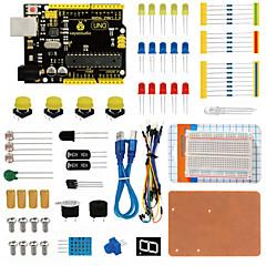 お買い得  Arduino 用アクセサリー-keyestudio uno r3デュポン付きarduinoスターター用ブレッドボードキットwireledresistorpdf