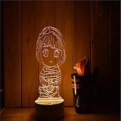 1セット 調光可能 LEDライト 装飾用 変色 創造的 装飾ライト LEDナイトライト USBライト-3W