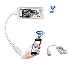 abordables Accesorios LED-2pcs mini wifi llevó el controlador rgb con hembra dc por control de teléfono inteligente para smd 5050 2835 rgb llevó la luz de tira