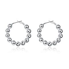 Dame Store øreringe Vintage Sød Smuk Mode Hypoallergenisk Plastik Sølvbelagt Cirkelformet Smykker Til Daglig Aftenselskab