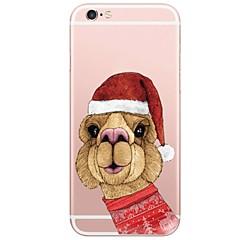 Недорогие Кейсы для iPhone 7 Plus-Кейс для Назначение Apple iPhone X iPhone 8 Plus С узором Кейс на заднюю панель Рождество 3D в мультяшном стиле Мягкий ТПУ для iPhone X