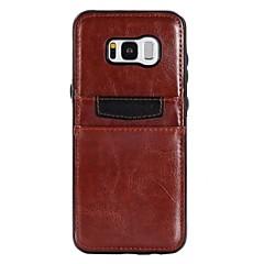 halpa Galaxy S6 Edge kotelot / kuoret-Etui Käyttötarkoitus Samsung Galaxy S8 Plus S8 S7 edge S7 Korttikotelo Iskunkestävä Ultraohut Takakuori Yhtenäinen väri Muuta Pehmeä