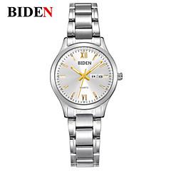 preiswerte Tolle Angebote auf Uhren-BIDEN Damen Armbanduhr Chinesisch Kalender / Armbanduhren für den Alltag Edelstahl Band Freizeit / Modisch / Elegant Silber / Gold
