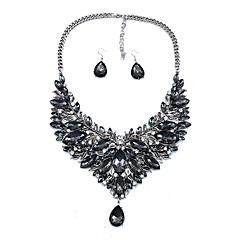 abordables Juegos de Joyería-Mujer Pendientes colgantes Collar Cristal Cristal Diamante Sintético Legierung Irregular Clásico Moda Pedida Ceremonia 1 Collar Pendientes