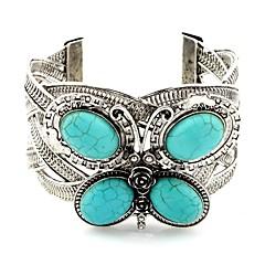 preiswerte Armbänder-Damen Türkis Manschetten-Armbänder - Türkis Tier Klassisch, Retro Armbänder Silber Für Alltag