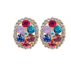 Γυναικεία Κουμπωτά Σκουλαρίκια Βασικό Πετράδι Κράμα Circle Shape Κοσμήματα Για Αρραβώνας Βραδινό Πάρτυ