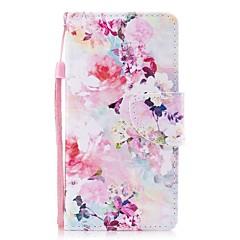 Недорогие Кейсы для iPhone 7 Plus-Кейс для Назначение Apple iPhone X iPhone 8 Plus Бумажник для карт Кошелек со стендом Флип Магнитный С узором Чехол Цветы Твердый Кожа PU